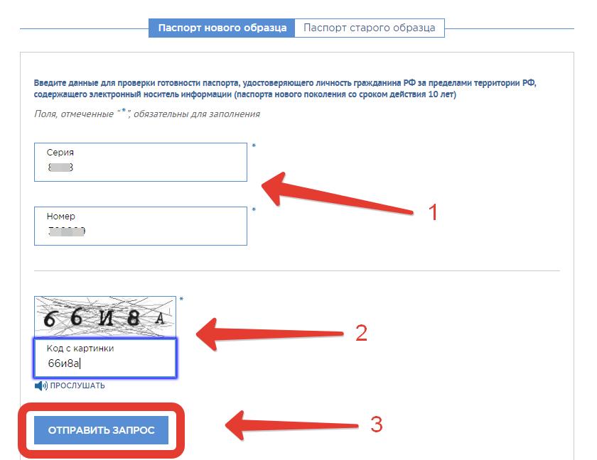 Проверка готовности загранпаспорта через сайт МВД РФ