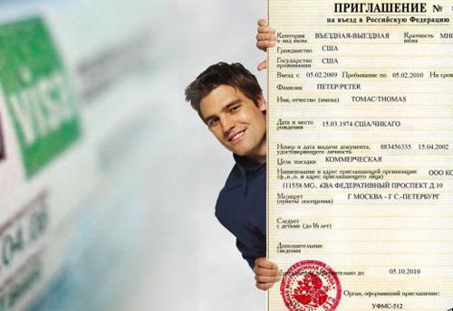 Деловое (бизнес) приглашение для иностранца